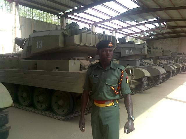 Nigerian Army Vickers Mk.3 Eagle tanks