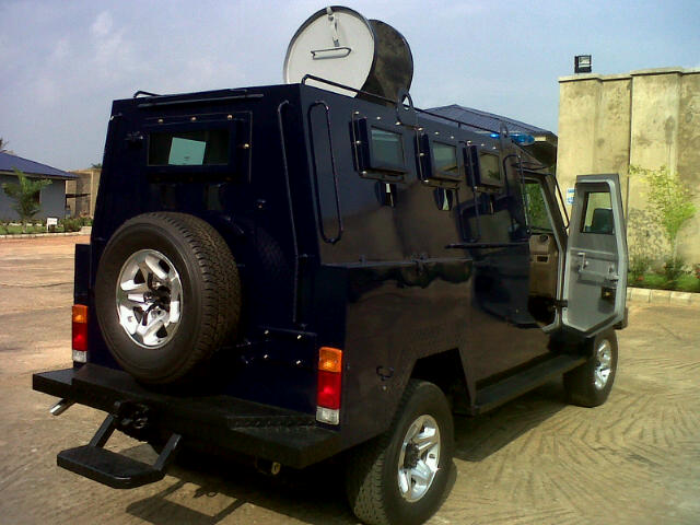 Rear view of the Proforce PF2 APV