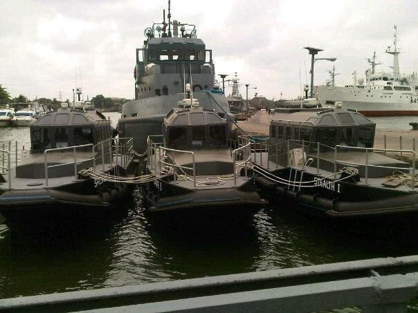First photo of the Nigerian Navy's new Turkish-built Aryan 1300-series stealth littoral interceptors