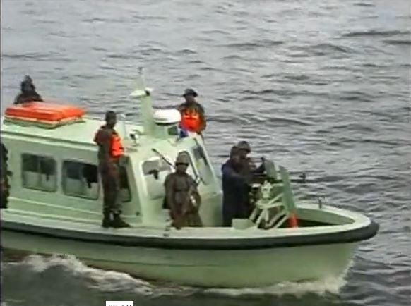 A Modant Marine patrol boat of the Nigerian Arny