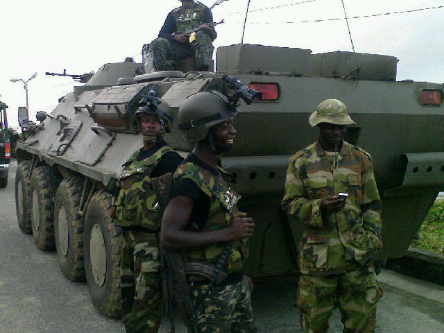 Nigerian Army Special Forces commandos and a BTR-3 APC seen for the first time in Nigerian service