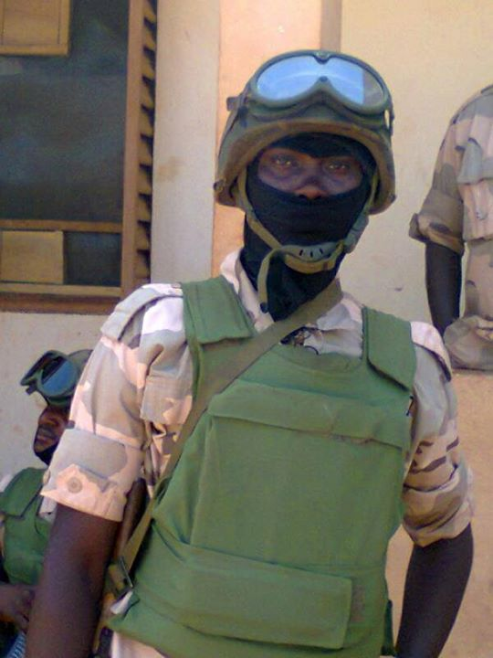 A soldier of the Nigerian Army Desert Force in Mali