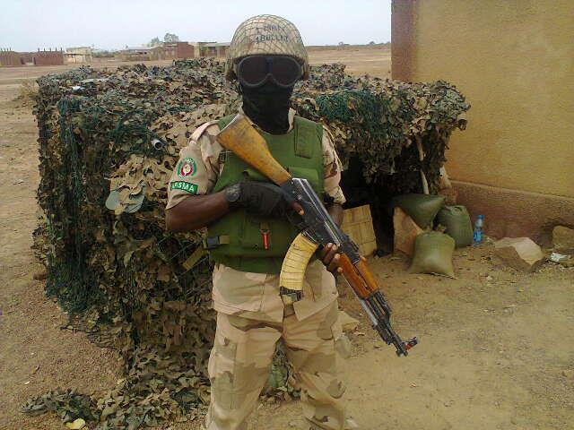 A Nigerian Army Special Forces commando in Mali
