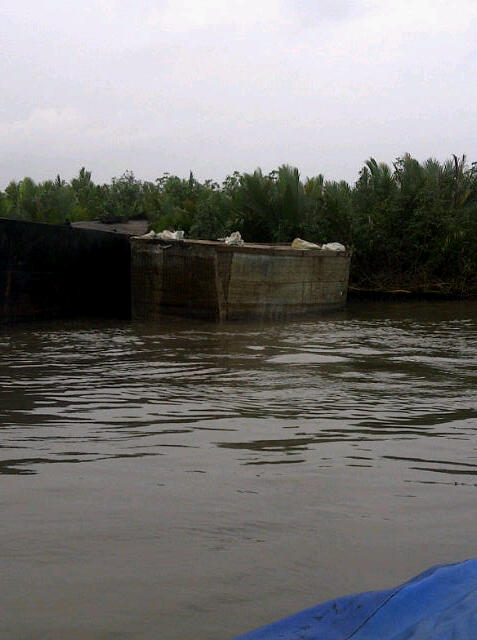 A barge impounded during the operations