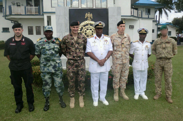 Nigerian Naval brasshats and foreign counterpartds pose for a group photo