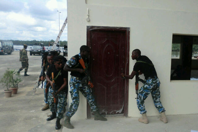 Nigerian Navy Special Boat Service commandos do their thing