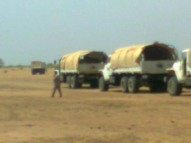 Lorries of the Nigerian UNAMID Contingent in Darfur